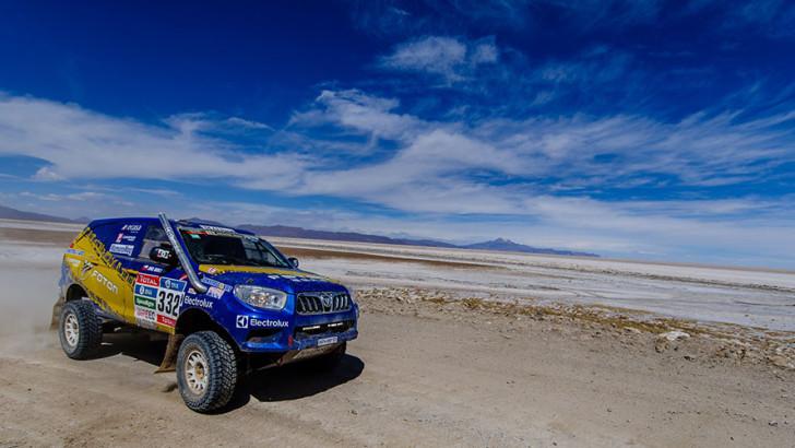 Team Foton avanza con éxito en el Dakar 2016 y se ubica en el puesto 30