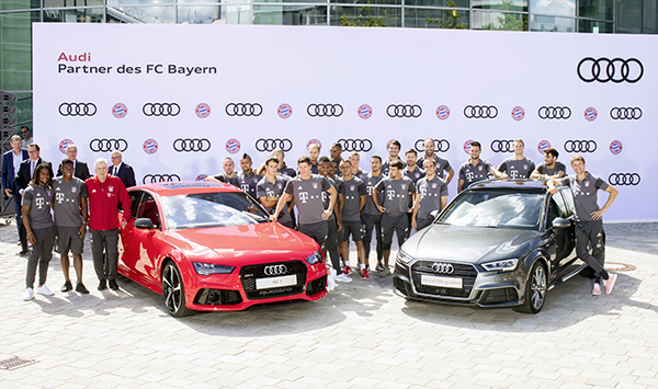 Handover of company cars at Audi in Ingolstadt
